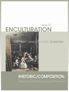 cover graphic for issue 5.1 of Enculturation